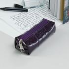 Ключница К11, 14*0,5*5см, отд на молнии, фиолет шит/фиолет кайман-49