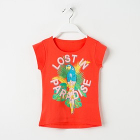 Футболка для девочки, рост 116 см, цвет персиковый Л925-3938 Ош