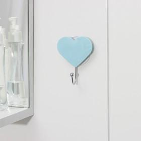 Крючок на присоске 'Сердце' 7х9х3 см, цвет МИКC Ош