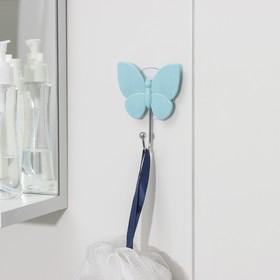 Крючок на присоске 'Бабочка' 8х9,5х3 см, цвет МИКC Ош