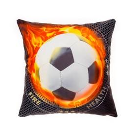 Наволочка декоративная Collorista 'Огненный мяч' 40х40 см, велюр, 100% п/э Ош