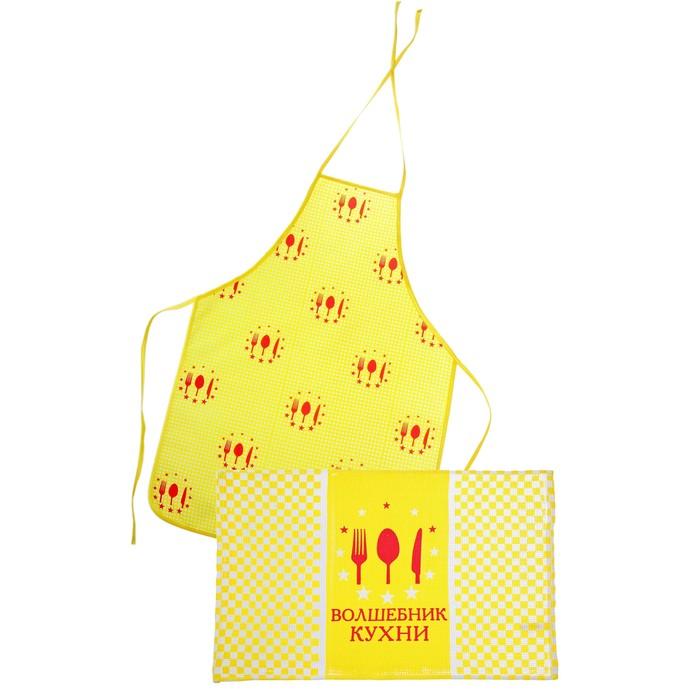Кухонный набор 2 пр. Collorista Волшебник кухни, фартук 50 х 70 см, полотенце 40 х 60 см