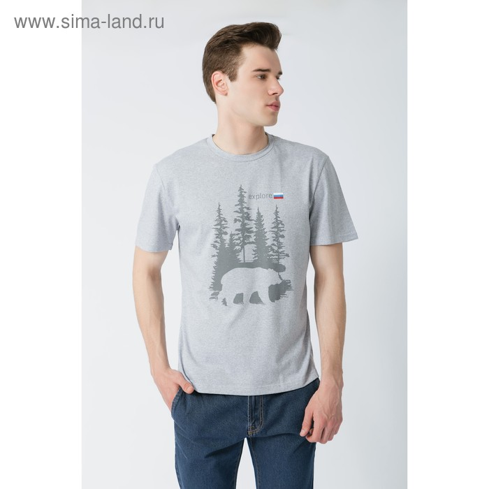 "Футболка мужская KAFTAN ""Explore"" р-р XL(50-52), 100% хл."
