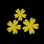 """Набор декоративных элементов из фетра на клеевой основе (3 шт) """"Цветы №1"""" светло-зеленый"""
