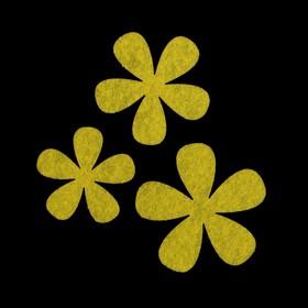 Набор декоративных элементов из фетра на клеевой основе (3 шт ) 'Цветы №2' светло-зеленый Ош