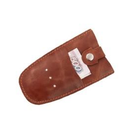 Ключница на кнопке, натуальная кожа, цвет коричневый Ош