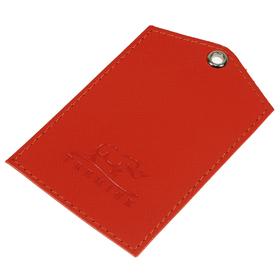 Обложки для документов без застёжки, 1 отдел, натуральная кожа, цвет красный Ош