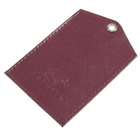 Обложки для документов без застёжки, 1 отдел, натуральная кожа, цвет бордовый Ош