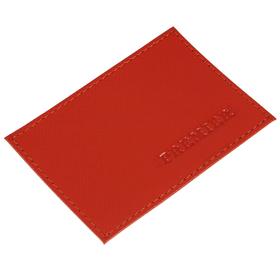 Визитница без застёжки 1 отдел,, натуральная кожа, цвет красный Ош