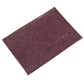 Визитница без застёжки 1 отдел,, натуральная кожа, цвет бордовый Ош