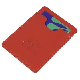 Обложки для документов без застёжки, натуральная кожа, цвет красный Ош