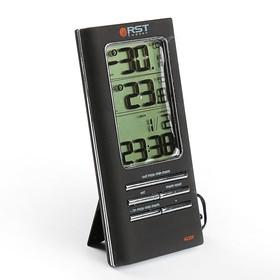Термометр RST 02309, цифровой, дом/улица, часы, черный Ош