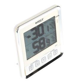 Термометр RST 02404, цифровой, гигрометр, с большим дисплеем, слоновая кость Ош