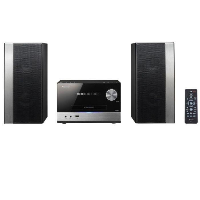 Микросистема Pioneer X-PM12, 76 Вт, CD, CDRW, FM, USB, BT, черная/серебристая