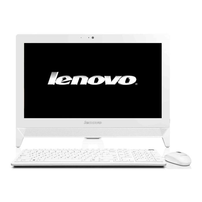 """Моноблок Lenovo S200z 19.5""""Cel J3060(1.6)/2Gb/500Gb/CR/noOS/клавиатура/мышь/Cam/белый"""