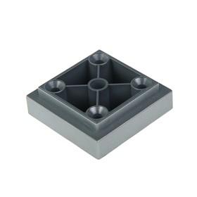 Опора квадратная, H=20 мм, цвет  матовый хром Ош