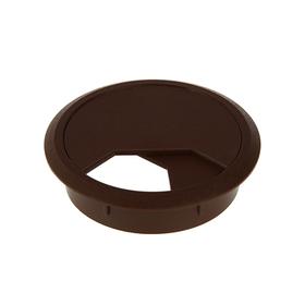 Заглушка кабель-канала, d=60 мм, коричневая Ош