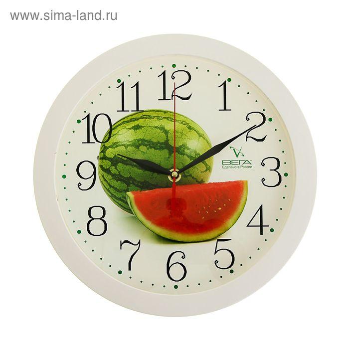 """Часы настенные круглые """"Арбуз"""", кухонные"""