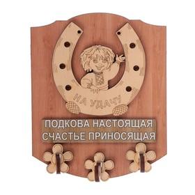 Ключница открытая фанера 'Подкова настоящая' 13х16 см Ош