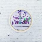 Тарелка декоративная «Букетики лаванды», с рисунком на холсте, настенная, D = 16 см
