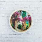 Тарелка декоративная «Улицы Прованса», с рисунком на холсте, настенная, D = 16 см