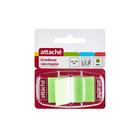 Флажки-закладки 45*25 мм Attache 25 л, пластиковые зеленые в диспенсере 166082