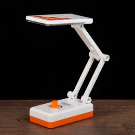 Лампа настольная LEDх14 1W АКБ выдвижная розетка 'Квадратики' оранж 11,5х6,5х5,3 см Ош