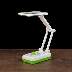 Лампа настольная LEDх14 1W АКБ выдвижная розетка 'Квадратики' зелёная 11,5х6,5х5,3 см Ош