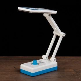 Лампа настольная LEDх14 1W АКБ выдвижная розетка 'Квадратики' голубая 11,5х6,5х5,3 см Ош