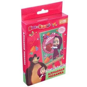 Алмазная мозаика для детей 'Добрый день' Маша и Медведь (емкость,стержень,клеевая подушечка) Ош