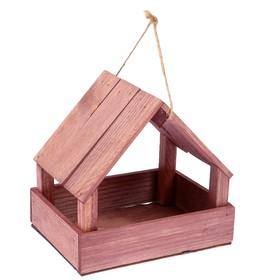 Кормушка для птиц, мокко, 25х13х20см Ош