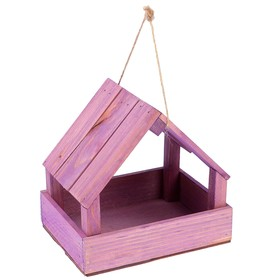Кормушка для птиц, фиолетовая, 25х13х20см Ош