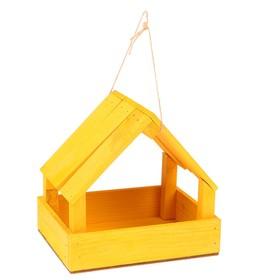 Кормушка для птиц, жёлтая, 25х13х20см Ош