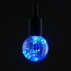 """Лампа светодиодная декоративная """"Шар"""" G80, 105 х 80 мм, Е27, 3 Вт, 230 В, Синий"""