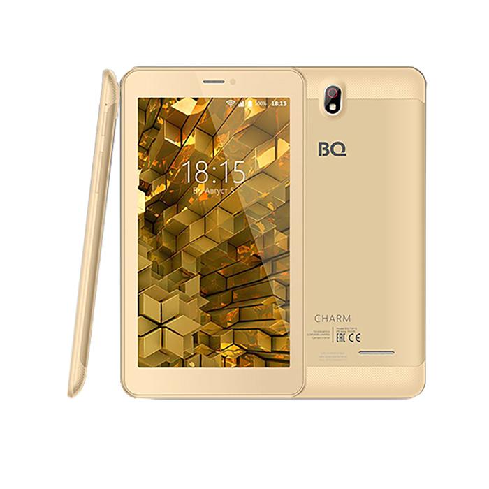 "Планшет BQ  7081G Charm Gold 7"",1024х600,IPS,1.3Ghz,1+8Гб,GPS,Android 7.0,2650mA,цвет золото  35328"