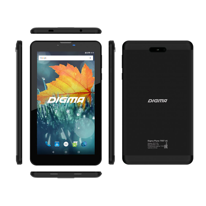 "Планшет Digma Plane 7557 LTE Black 7"" IPS,1024x600,2Gb+16Gb, черный"