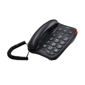 Телефон Texet TX 214, большие кнопки, черный Ош