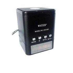 Портативная акустика WS-695, USB, micro SD, FM, черная Ош
