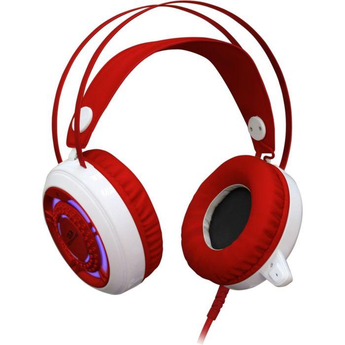 Гарнитура игровая Redragon Sapphire, подсв. корпуса, кабель 2,5 м, белая/красная