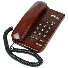 Телефон Ritmix RT-320, кофейный Ош