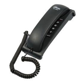 Телефон Ritmix RT-007, проводный, повторный набор, черный Ош