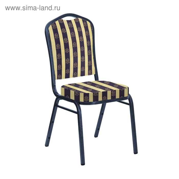 """Банкетный стул """"Молот"""" 20 мм, каркас титан, обивка узкая полоса синяя"""