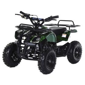 Квадроцикл детский бензиновый MOTAX ATV Х-16 Мини-Гризли с электростартером, зеленый камуфляж   2532 Ош