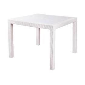 Стол 'Ротанг', 94х94х74 см, цвет белый Ош