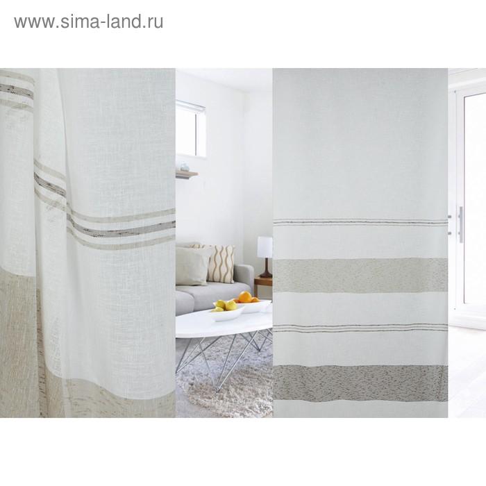 Ткань портьерная в рулоне, ширина 300 см, лён 96580