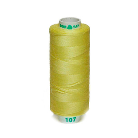 Нитка PL 40/2 400 ярд, №107 К09, цвет желтый Ош