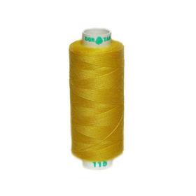 Нитка PL 40/2 400 ярд, №115 К09, цвет ярко-желтый Ош