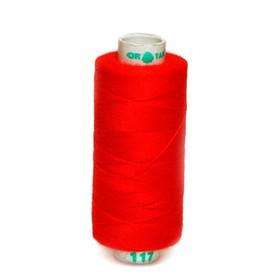 Нитка PL 40/2 400 ярд, №117 К09, цвет красный Ош