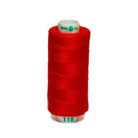 Нитка PL 40/2 400 ярд, №118 К09, цвет красный Ош