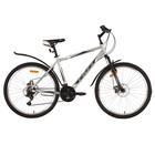 """Велосипед 26"""" Foxx Atlantic D, 2018, цвет серый/красный, размер 18"""""""